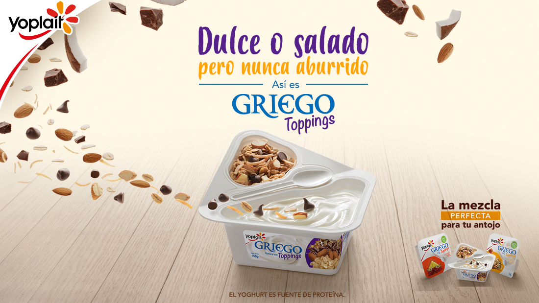 Nuevo Yoplait Griego Toppings